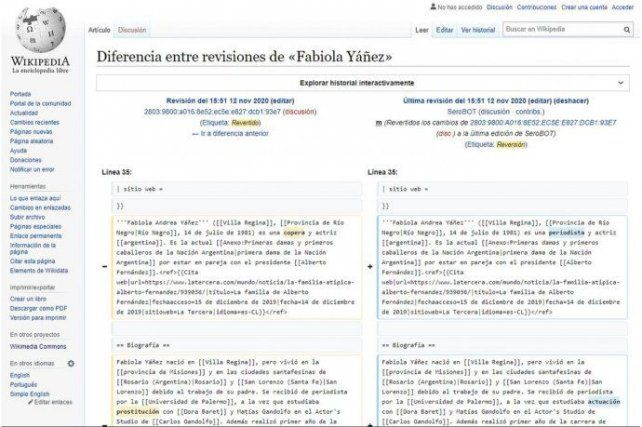 """""""Chiruza"""" y """"florero"""" fueron algunos de los términos que le modificaron en el perfil de la primera dama."""