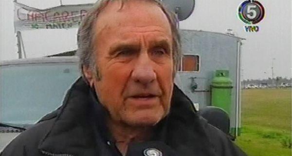 Reutemann participó este mediodía de la protesta de Chacareros de Pie.