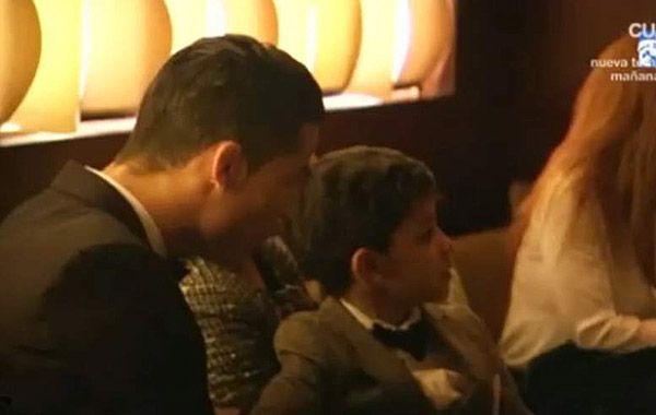 El niño quedo impactado al encontrarse con Lionel.