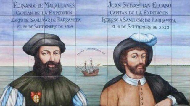 Estampa. Retrato de época de Magallanes