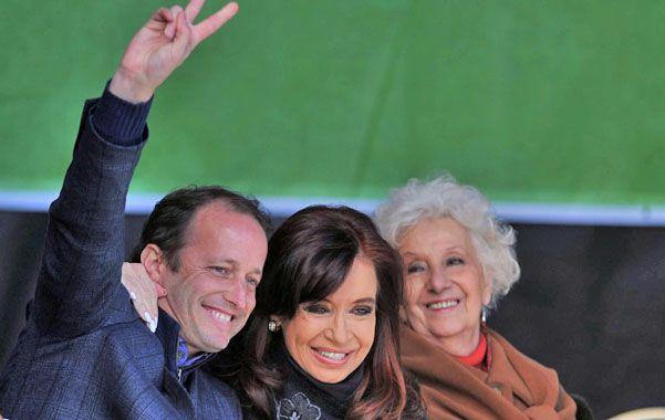 Juntando votos. La presidenta encabezó un acto junto a Martín Insaurralde. Estela de Carlotto estuvo a su lado.