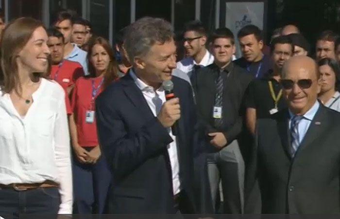 Macri estuvo presente esta mañana en 3 de Febrero junto a la gobernador Vidal y Alfredo Coto.