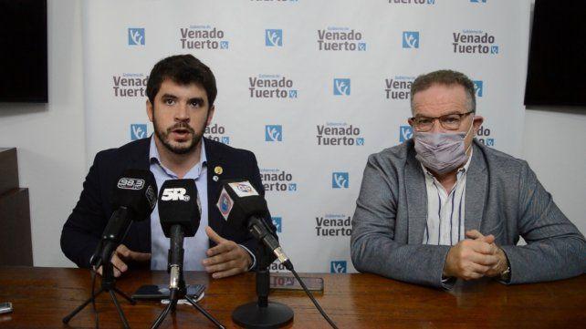 El intendente radical Leonel Chiarella junto al Ministro de Seguridad (el venadense) Jorge Lagna acuerdan medidas de seguridad