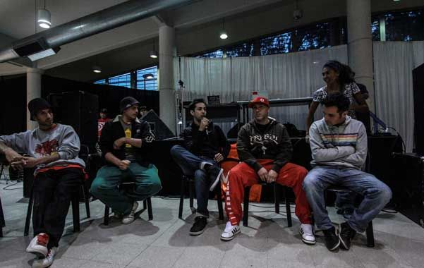 Los participantes pudieron intercambiar experiencias basadas en la influencia del hip hop.