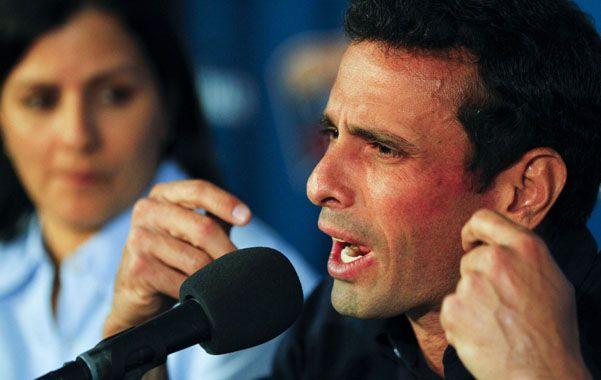 Insistente. Henrique Capriles asegura que ganó las elecciones del 14 de abril.