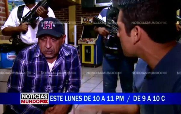 Casi una estrella. El capo La Tuta fue entrevistado por Fox gracias a la mediación de sus periodistas.