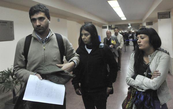 Los familiares de Gerardo Escobar participaron de la audiencia imputativa en Tribunales.