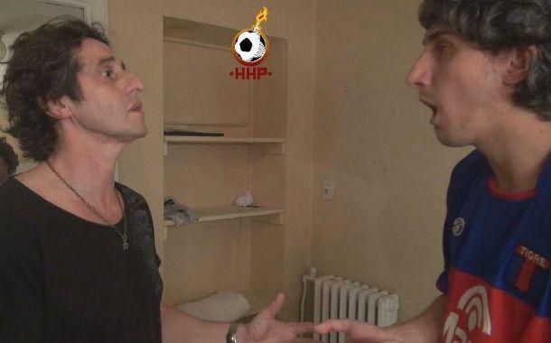 """De lujo. Diego Peretti junto a Nicolás Palma en el capítulo """"Casigol"""" del que también participó con Mirta Busnelli."""