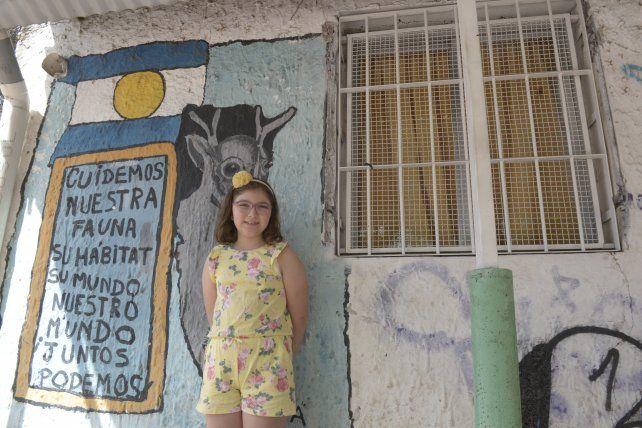 Georgina es alumna de la escuela Gurruchaga.