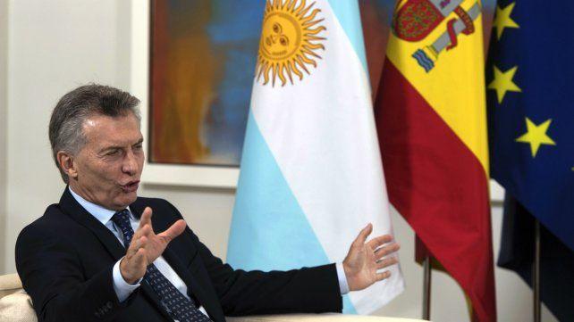 El presidente Macri