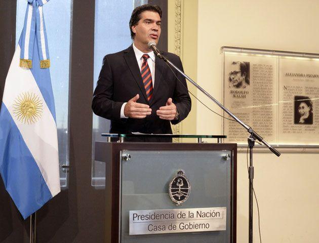 La confirmación fue en la conferencia de prensa que realizó hoy en Casa de  Gobierno.
