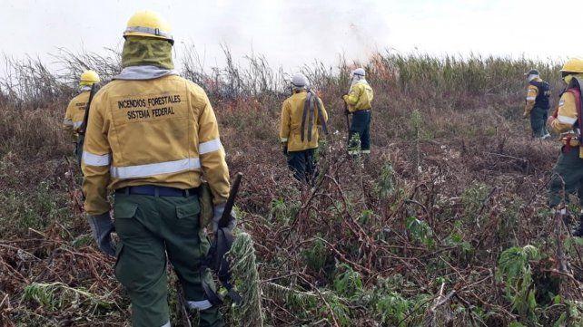 Brigadistas trabajan a destajo para apagar las llamas en las islas.