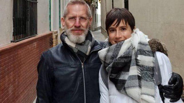 Gabriel Guelman con su mujer