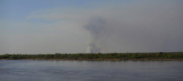 Rosario. Las lluvias mitigaron los incendios en el delta del Paraná.