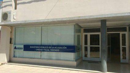 La sede del Ministerio Público de la Acusación, en la ciudad santafesina de Tostado.