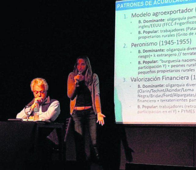 Sintonía fina. Arelovich y Strada analizaron la política económica macrista.