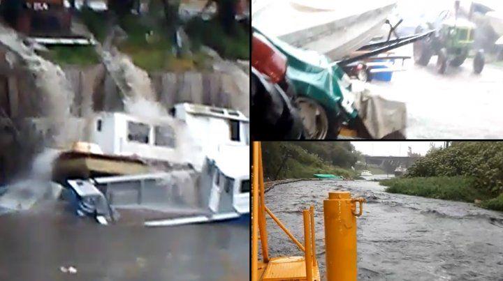 Los arroyos Ludueña y Saladillo registraron los efectos de la tormenta.