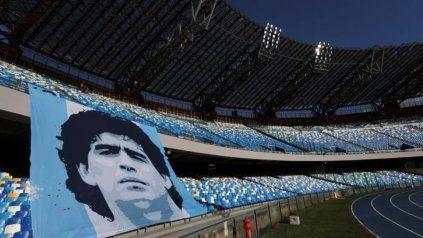 A disposición. La comuna de Nápoles pondrá el estadio municipal Diego Maradona para un eventual partido entre los seleccionados de Argentina e Italia,