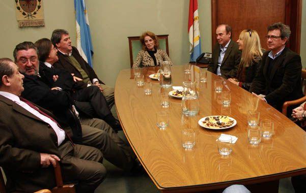 En tribunales. La reunión entre los diputados y los miembros de la Corte se realizó ayer en Rosario.