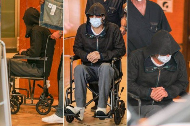 Brad Pitt intentó no ser reconocido al dejar el hospital en Los Angeles.