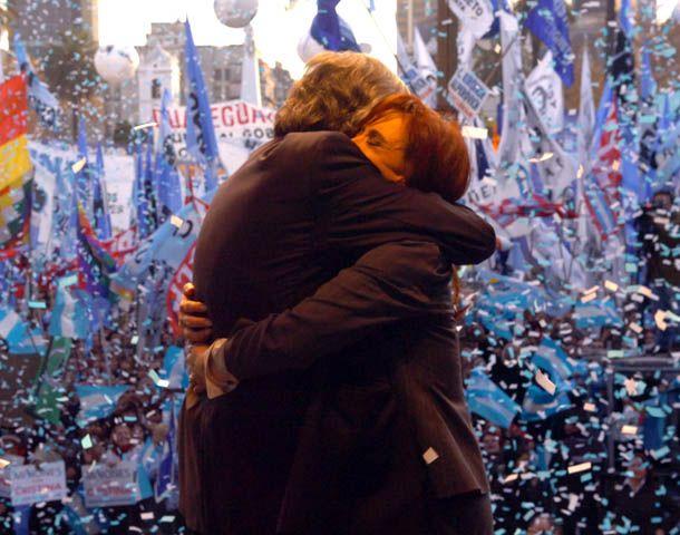 Una de las imágenes más elegidas en las redes sociales para recordar a Néstor Kirchner.