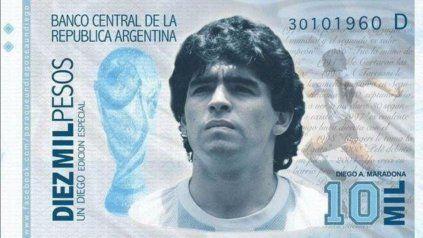 Los fans del Diez lanzaron una campaña en las redes sociales pidiéndole al gobierno que saque el billete con la imagen de Maradona.
