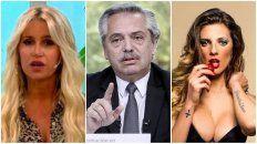 Florencia Peña, Alberto Fernánez y Sofía Pachi, nombradas en la denuncia por violar la cuarentena.