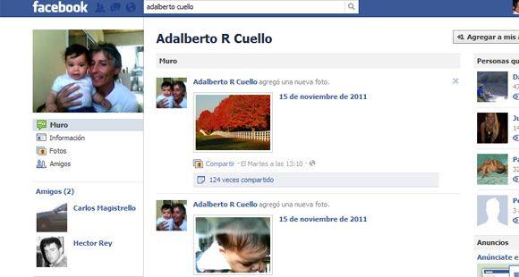 Indignación en el perfil de Facebook de Adalberto Cuello