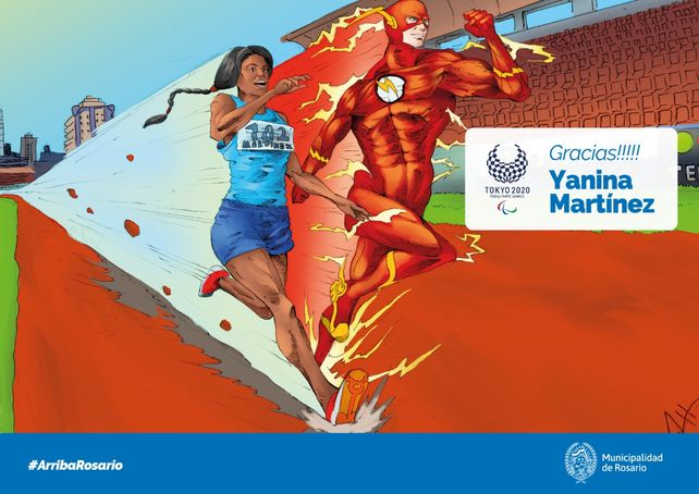 Yanina Martínez, a la par de Flash.