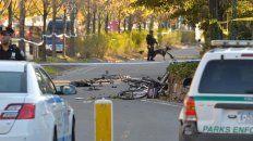 Las bicicletas destruidas, de las imágenes más fuertes del video.