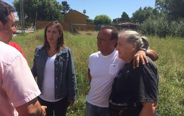 respaldo porteño. Vidal y Del Sel compartieron una recorrida por los barrios.