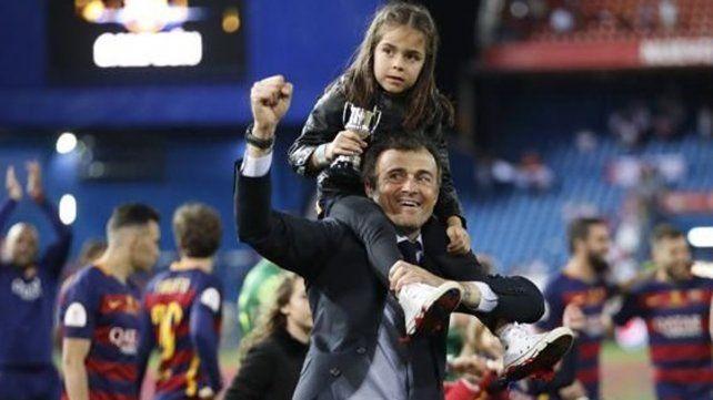 Murió la hija menor del entrenador español Luis Enrique
