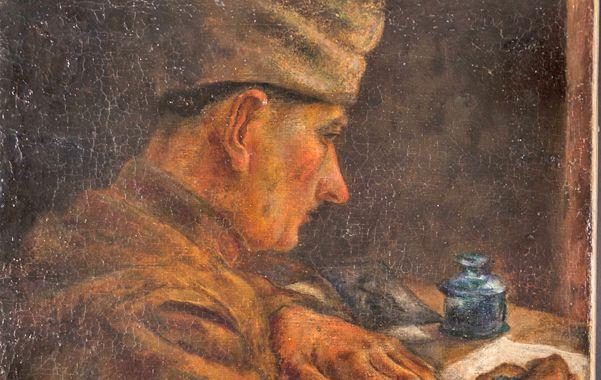 """""""Soldado escribiendo"""" es la pintura obra del genial artista"""