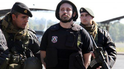 La imagen de la detención de Pérez Corradi.