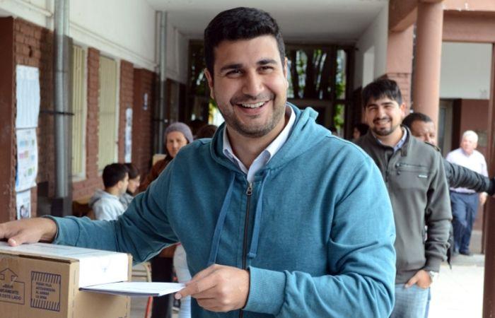 Marcos Cleri votó en la escuela Brigadier López.