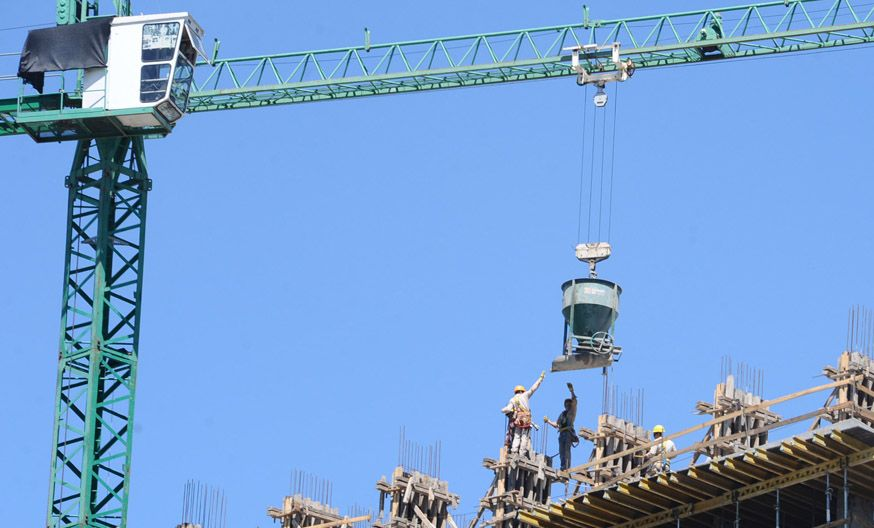 Repunte. La construcción recuperó su nivel de actividad en los últimos tres meses