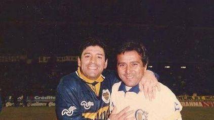 Palma y Maradona, para la posteridad en un partido jugado en 1996 en el Gigante