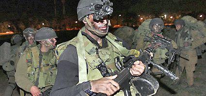 Israel atacó por tierra Gaza