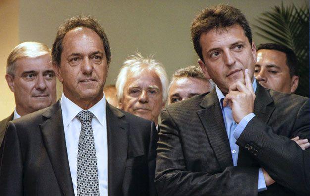 Indiferencia. Massa y Scioli marcan distancia en sus proyectos políticos.