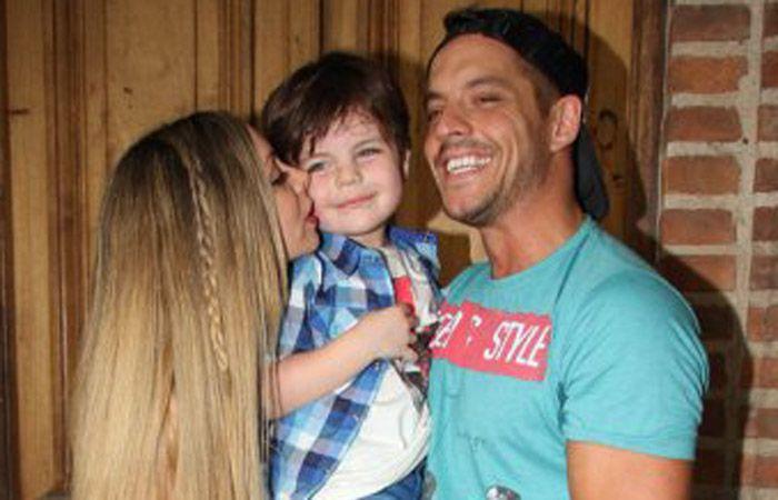 Gisel y Francisco junto a su hijo Ian.