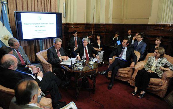 Pliegos. Fábrega habló en la comisión de Acuerdos del Senado.