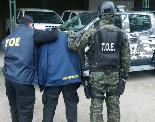 El operativo fue realizado por efectivos de las TOE.
