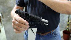 """Registración balística. """"Se registra y se hace un disparo en un cañón de recuperación balística""""."""