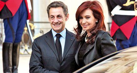 Sarkozy colmó de elogios a Cristina en la reunión que tuvieron en París