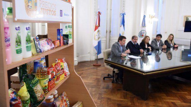 Productos. Comercios y autoridades lanzaron el plan Precios Justos.
