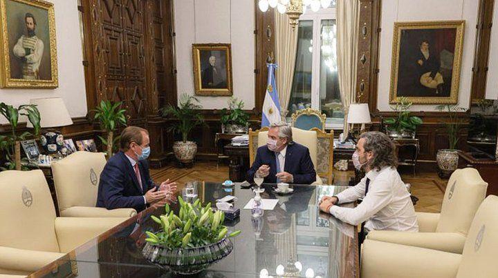 Bordet se reunió con Alberto Fernández y Santiago Cafiero