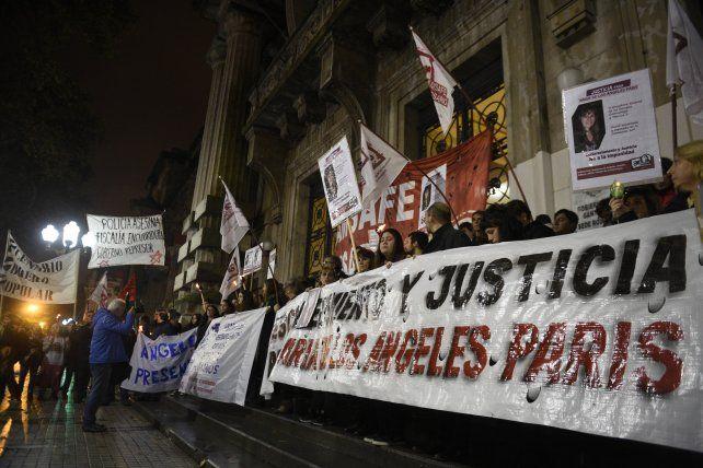 Varias marchas se hicieron en reclamo por el esclarecimiento del caso Paris.