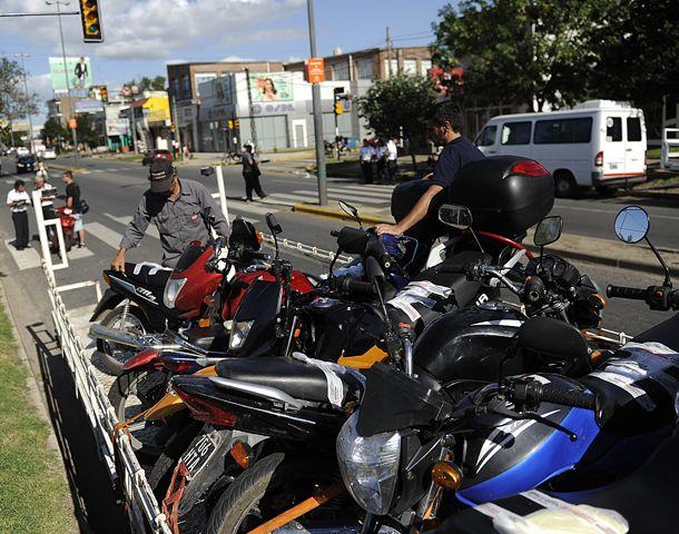Las motos decomisadas fueron a parar al depósito municipal.