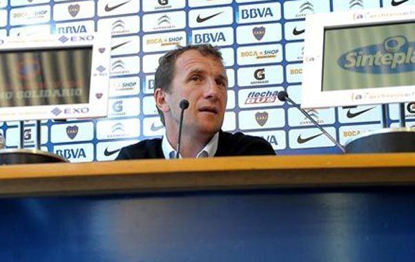 """Conferencia. El Vasco dijo que Boca """"sólo"""" debe pensar en ganarle a Racing."""