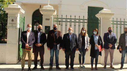 Los integrantes de la comisión de seguimiento del caso Vicentin en la Legislatura santafesina.